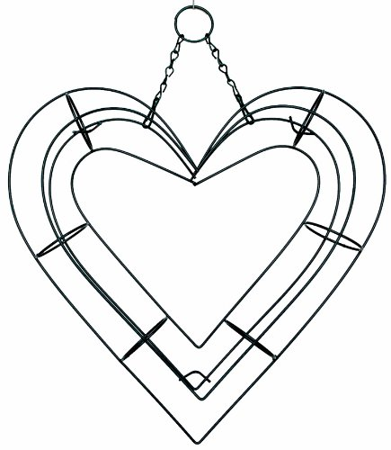 amazoncom 9 heart shape living wreath wire form patio lawn garden