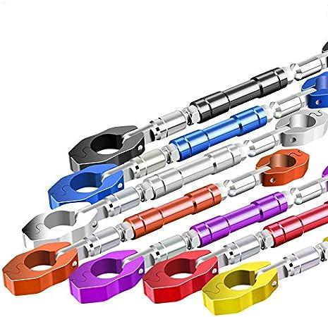 Volant renfor/çant Le Support en Alliage daluminium RONSHIN Guidon Universel de Moto de 22 mm poign/ée de poign/ée de Moto Barre transversale Ajustable Orange