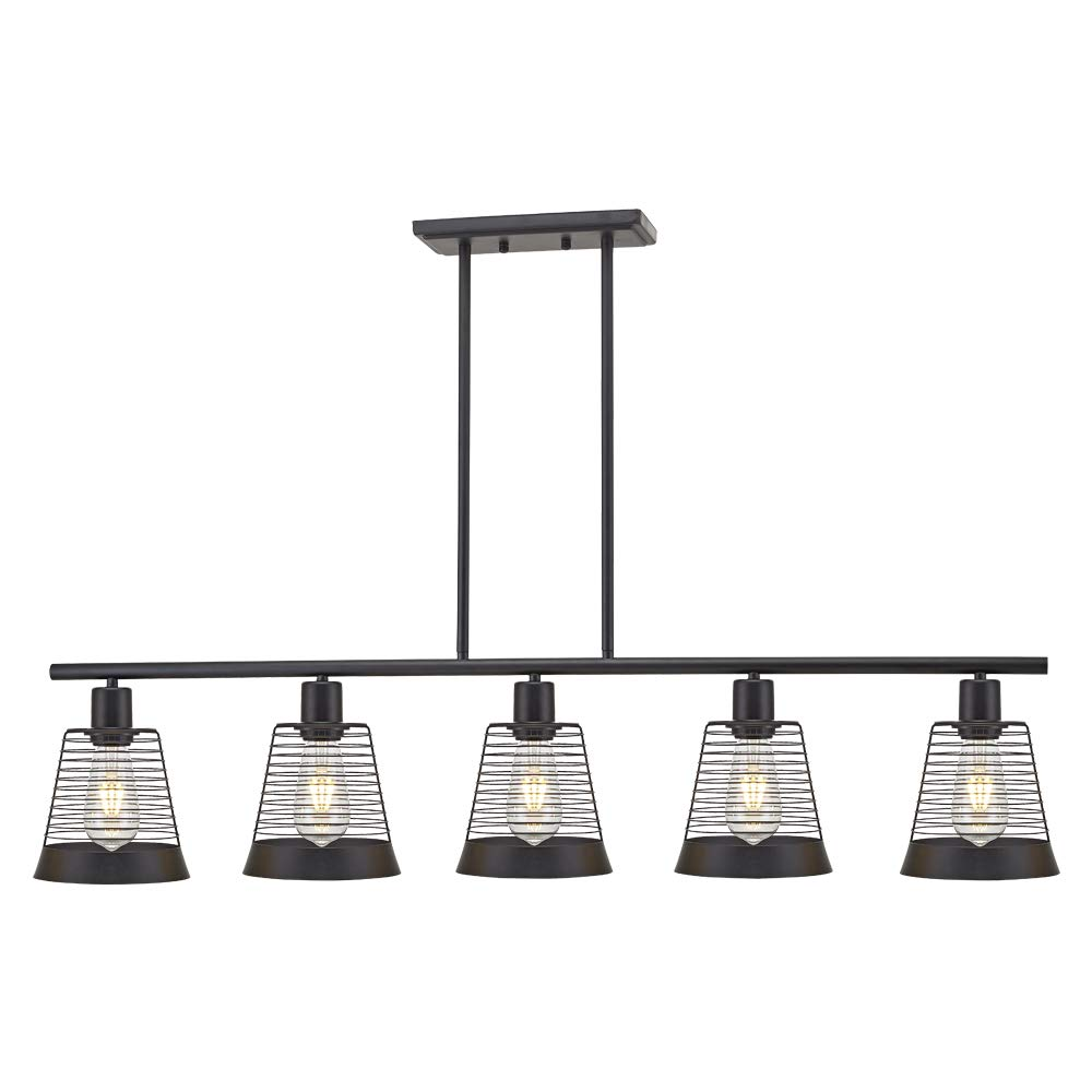 5 light farmhouse linear chandeliers black kitchen island dining room lighting industrial vintage ceiling lighting fixtures ul listed by bonlicht