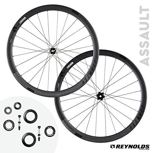 Reynolds Cycling Assault Disc Brake Carbon Fiber Wheelset for Road Bikes, Shimano Compatible (Wheels Reynolds Bike)