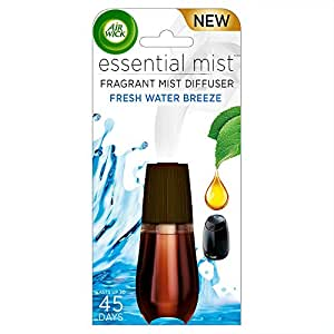 Air Wick Essential Mist Fragrance Oil Diffuser Refill, Fresh Water Breeze, 1 Count, Air Freshener