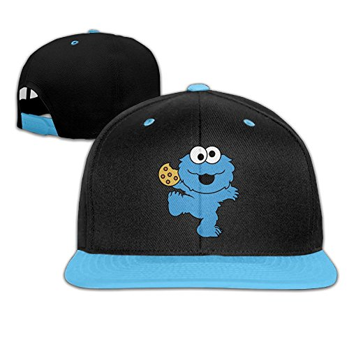 (Child Cute Blue Dancing Monster with Cookies Hat Hip Hop Baseball Caps Boys)