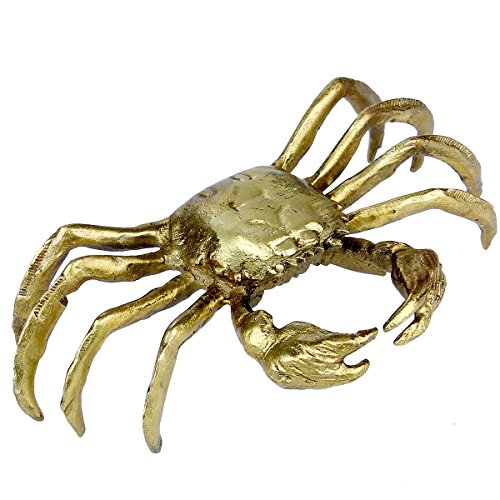 feng shui handicraft brass crab statue collectible home decoration