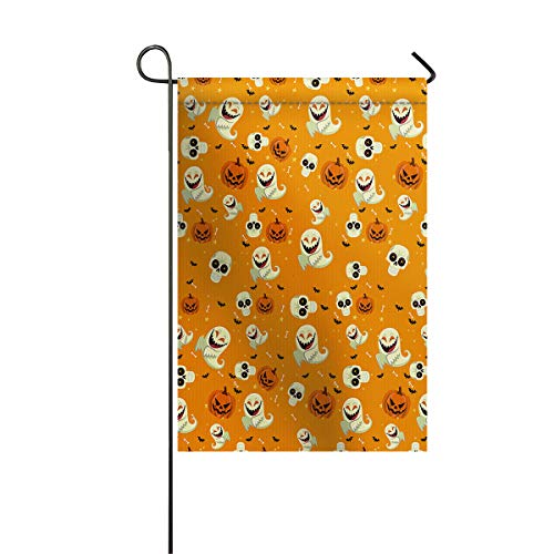 BABE MAPS Garden Flag Double Sided Cool Halloween Theme Yard Decor, Weather-Proof and Double Stitched Outdoor Decorative, 28