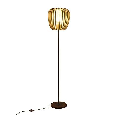 Lampada da Terra in Legno Massello Soggiorno Ikea Creativa Lampada ...