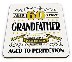 Premium calidad años 60años abuelo taza brillante posavasos–dorado