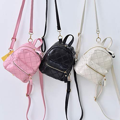 Literary Bag Stitching Bags Rosado Shoulder Shoulder Bag Girl Female BISSER Lady New Mochila Backpack Bag 2018 New Backpack xn60nwU