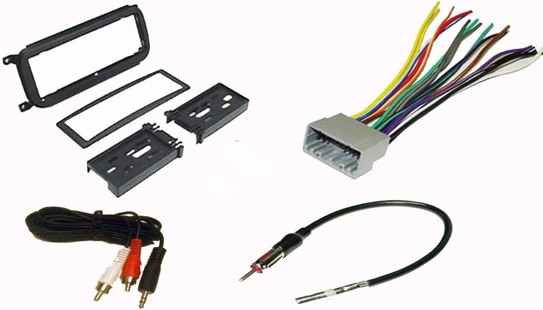 Amazon.com: Carxtc Radio Stereo Install Dash Kit + Wire Harness + ... 2000 jeep cherokee radio wiring diagram Amazon.com
