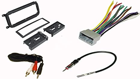 Amazon.com: Radio Stereo Install Dash Kit + wire harness + antenna on explorer radio wiring, pt cruiser radio control, alero radio wiring, automotive radio wiring, cobalt radio wiring, sienna radio wiring, fj cruiser radio wiring, sx4 radio wiring, tundra radio wiring, ram 3500 radio wiring, viper radio wiring, xterra radio wiring, pt cruiser radiator fan wiring, cherokee radio wiring, chrysler radio wiring, pt cruiser radio replacement, trailblazer radio wiring, jetta radio wiring, mustang radio wiring, prius radio wiring,