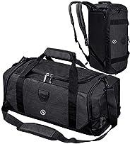 Bosidu Gym Duffle Bag for Men & Women Waterproof Sports Bag Travel Duffel Bags with Wet Pocket & Shoes