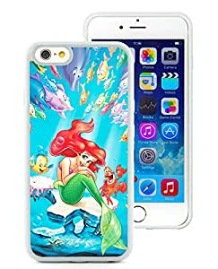 iPhone 6 4.7 inch The Little Mermaid White Screen TPU Phone Case Luxurious and Fashion Style