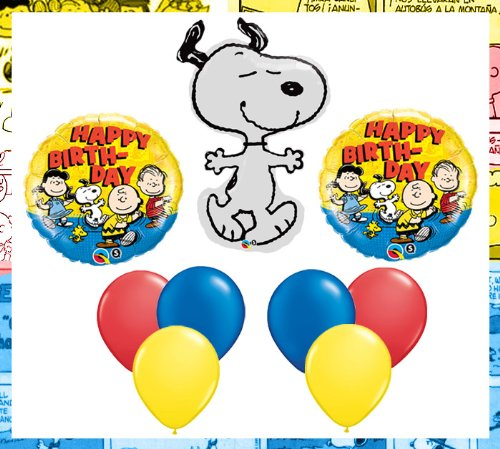 Amazon Peanuts Charlie Brown Snoopy Happy Birthday Party Balloon Set Arts Crafts Sewing