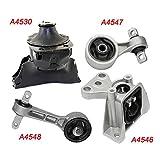 OMNI 5 Fits 06-11 Honda Civic 1.8L MANUAL Engine Motor & Trans Mount Set 4pc 06 07 08 09 10 11 A4530 A4547 A4548 A4546: K1473-04
