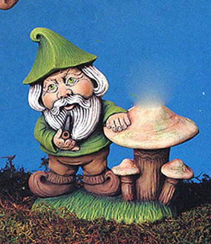 Gnome with Mushroom 7'' Ceramic Bisque, Ready to Paint