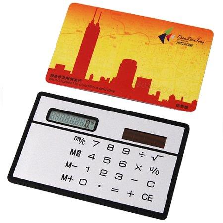 Veroda Mini Powered Credit Card Size Compact Solar Calculator Photo #4