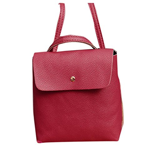Satchel Watermelon Travel School Purse Bag Inkach Rucksack Leather Womens Bags Fashion Red Backpack gxw46q