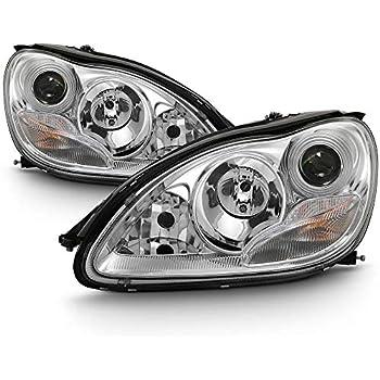 ACANII - For [HID Model] 2000-2006 Mercedes Benz W220 S-Class Chrome Projector Headlights Headlamps, Driver & Passenger