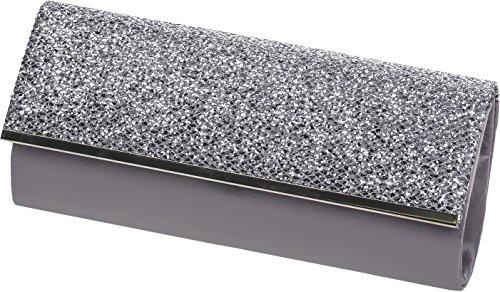 Lexus BM014 - Cartera de mano para mujer Silver Textile Grey Textile
