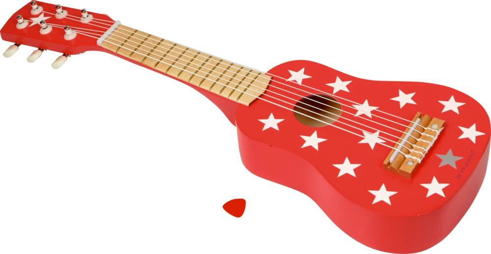 Play and Fun Spiegelburg Holz Kinder Gitarre rot mit Sternen 54cm .
