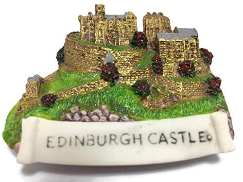 Edinburgh Castle Scotland Souvenir Collection 3D Fridge Refrigerator Magnet Hand Made Resin (Scotland Fridge Magnet)
