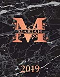 img - for Mariah 2019: Personalized Name Weekly Planner 2019. Monogram Letter M Notebook Planner. Black Marble & Rose Gold Cover. Datebook Calendar Schedule book / textbook / text book
