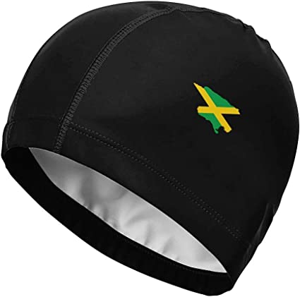 Bandera de Jamaica Mapa Bandera nacional Gorro de baño de alta ...