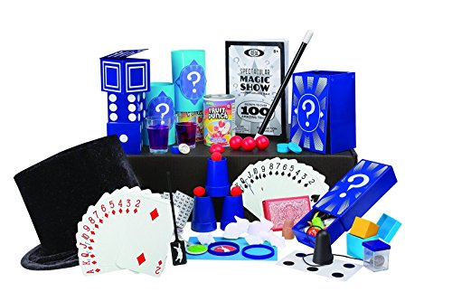Show Magic Suitcase (New Kids Classic 100 Tricks Magic Show Kit Suitcase Toy Set Video Magician Table Hat)