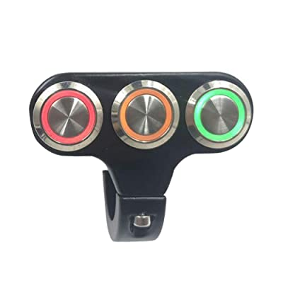 22mm Motorcycle Switches Handlebar Mount Switch For Headlight Fog Light ON OFF High Low Beam Aluminum Alloy With Indicator Light: Automotive