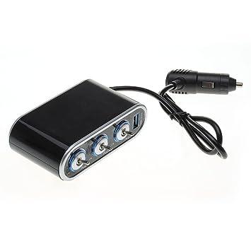 Mechero Encendedor Cargador USB para Coche Auto 1000MA 70W ...