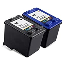 NUINKO 2 Pack Remanufactured HP 56 HP 22 Ink Cartridge Black and Color C6656AN C9352AN for HP OfficeJet 5610 5600 5610xi 5610v 5605 Printers