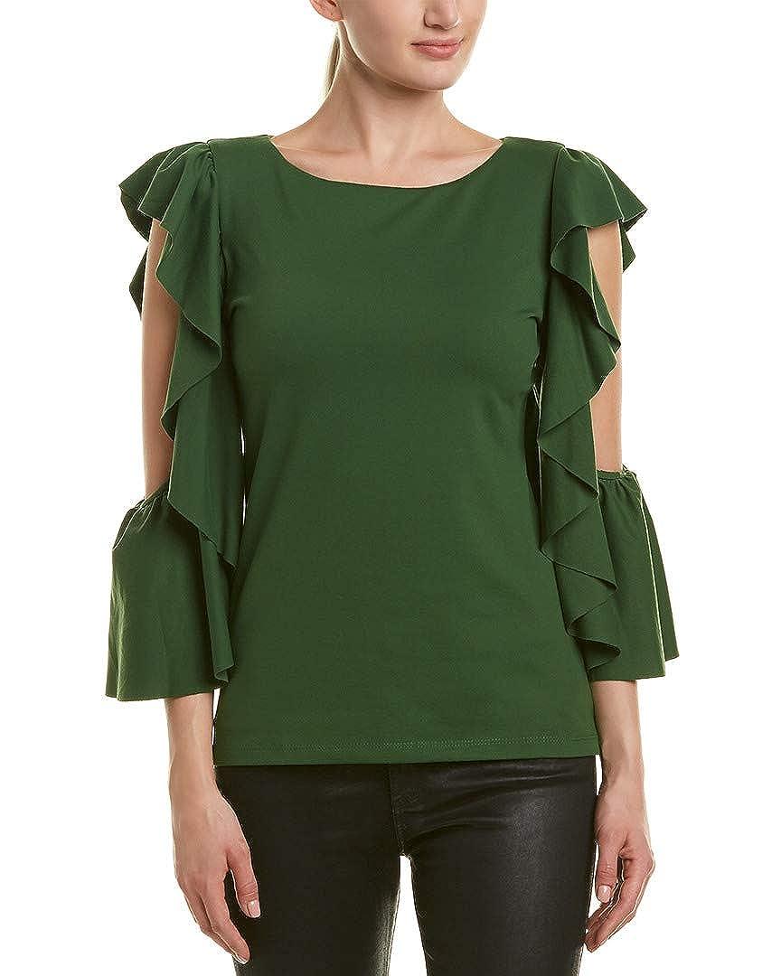 104e6c150c302f Amazon.com  Susana Monaco Womens Cold-Shoulder Ruffle Top