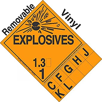 Health And Safety Hazard Sticker Explosive 1.3g Sticker Orange Adhesives, Sealants & Tapes Business & Industrial