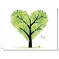 Note Card Cafe All Occasion Greeting Cards with Envelopes Included   36 Pack   Blank Inside, Glossy Finish   Tree of Love Design   Assorted Box Set for Greeting Cards, Occasions, Birthdays
