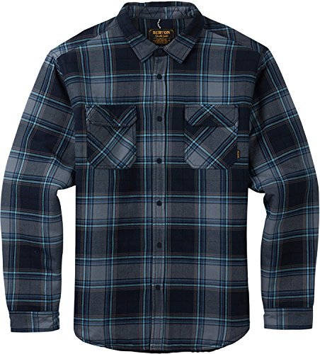 Burton Tech Flannel - Burton Men's Brighton Insulated Flannel Top, Eclipse Rowan Plaid, Large