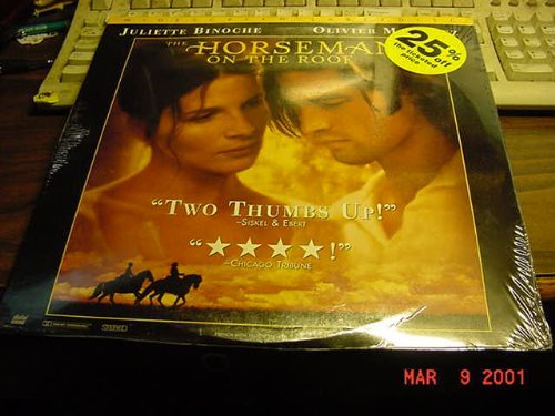Laser Disc, Laserdisc of THE HORSEMAN ON THE ROOF With Juliette Binoche and Olivier Martinez. In French with English Subtitles. ()