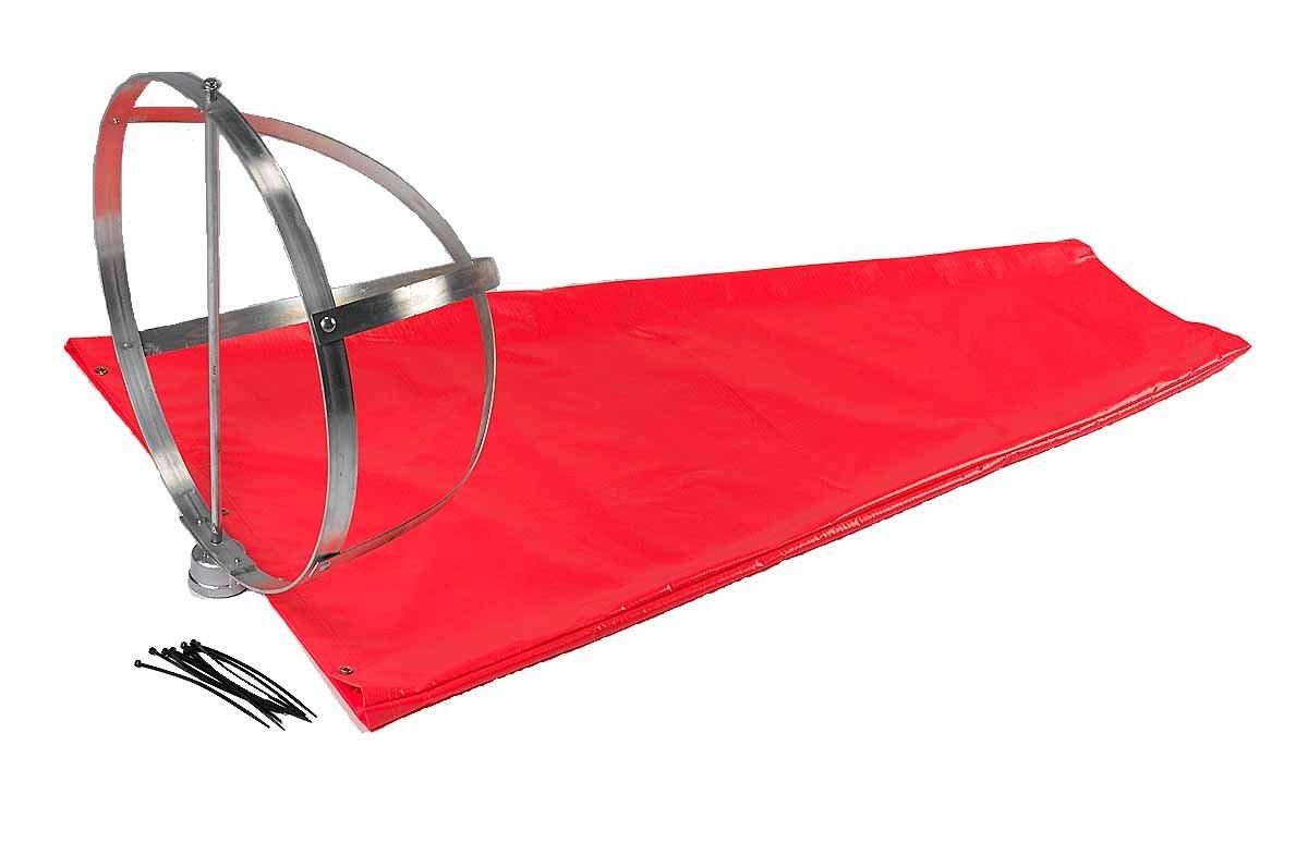 Cortina 03-WS-8KT PVC Over Nylon Windsock Kit, 18'' Diameter x 8' Length, Orange