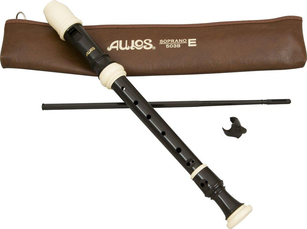 Aulos E503 3-Piece English/Baroque Fingering Soprano Recorder - Brown A503B