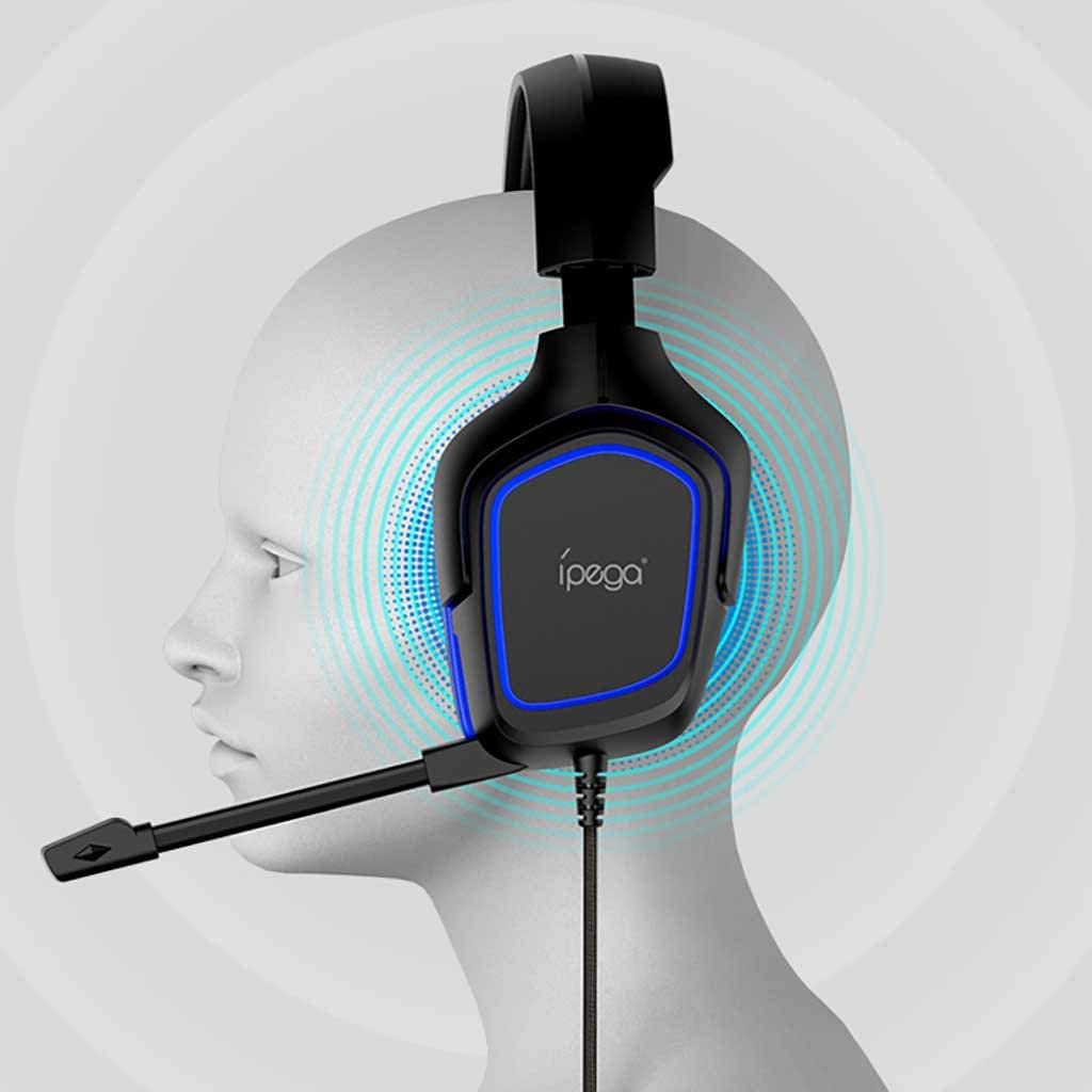 Karooch Gaming Headset 3.5mm Over-Ear Headphone Microphone Professional Noise Reduction of Game Headset Compatible with N-Switch Playststion PS4 N-Switch Lite PC Tablet Blue