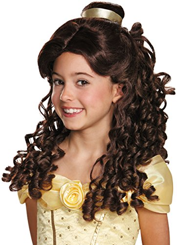 Modern Day Princess Costumes (Belle Ultra Prestige Child Disney Princess Beauty & The Beast Wig, One Size Child)