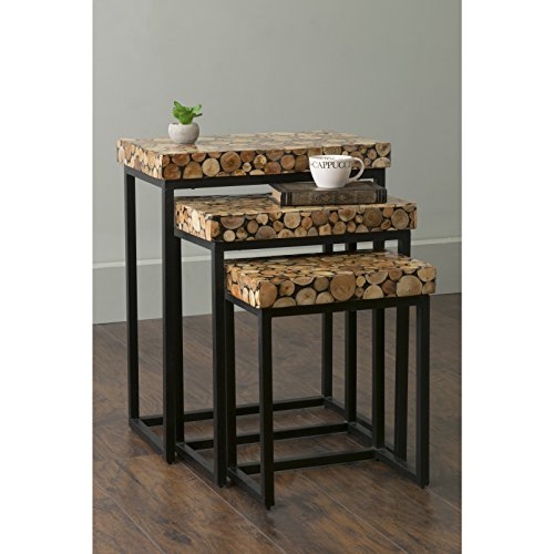 East at Main Palo Brown Rectangular Teakwood Accent End S...