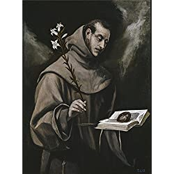 Oil Painting 'El Greco Saint Anthony Of Padua Ca. 1586', 16 x 22 inch / 41 x 55 cm , on High Definition HD canvas prints is for Gifts And Hallway, Nursery And Powder Room Decoration, HD