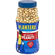 Planters Unsalted Dry Roasted Peanuts, 16 Ounce (4 Pack)