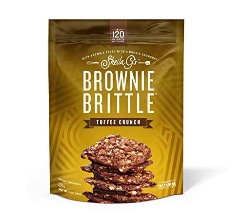 Brownie Brittle, 5 Ounce, Toffee Crunch (120 calories per ounce), 6 Count (Packaging May Vary) (Packaging May Vary)