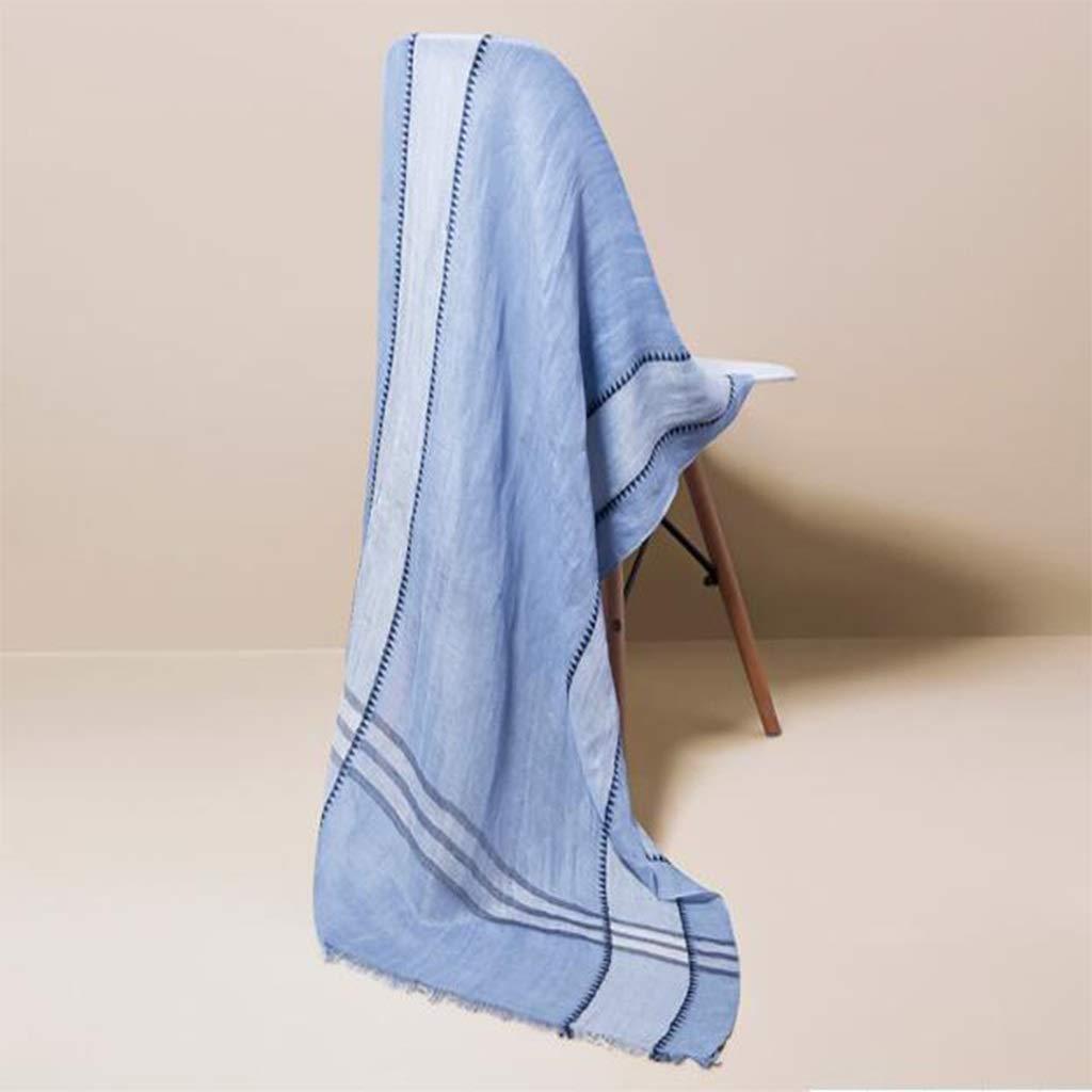 ENYI Women's Fashion Shawl Long Soft Wrap Shawl Wild Plaid Collar / 173x65cm (Color : Blue, Size : 173x65cm) by ENYI