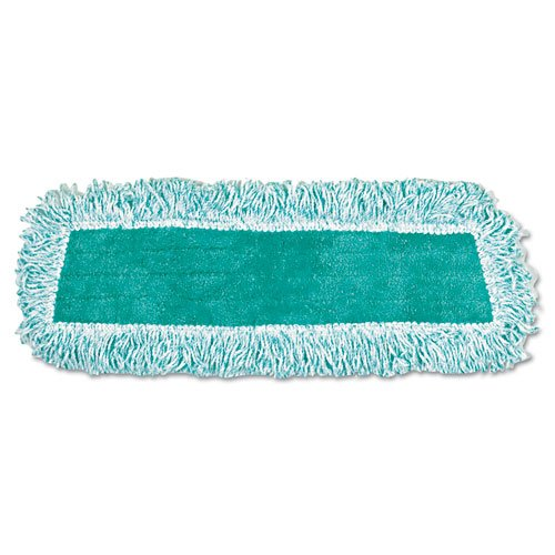 Rubbermaid Commercial FGQ40800GR00 Dust Mop Heads with Fringe 18'' Microfiber Cut-End 12/Carton, Green by Rubbermaid Commercial Products