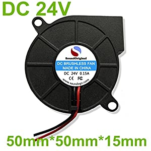 SoundOriginal 12V DC Brushless Blower Cooling Fan 75x75x30mm, 2pin, Dual Ball Bearing, Computer Fan, Multi Use, Black, US Support by SoundOriginal Factory