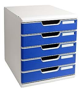Exacompta A4+ - Modulo con 5 cajones, color azul
