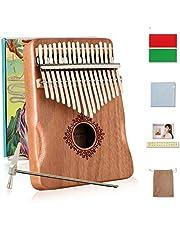 $39 » Kalimba Thumb Piano 17 Keys,Kalimba MISIFU Finger Piano Instrument with Mahogany Wood,Kalimba with Waterproof Protective Box,Tune Hammer and Study Instruction for Kids Adult Beginners(2021 New Design)