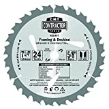 CMT K02407-X10 ITK Contractor Framing/Decking Saw Blade (10-pcs masteroack), 7-1/4 x 24 Teeth, 10° ATB with 5/8-Inch<> bore