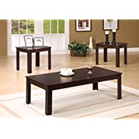 3 PIECES CAPPUCCINO COFFEE TABLE SET